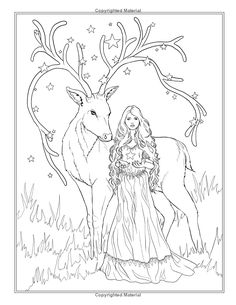 Festive Magic - Fantasy Christmas Coloring Book (Fantasy Coloring by Selina) (Volume Coloring Pages For Grown Ups, Detailed Coloring Pages, Fairy Coloring, Christmas Coloring Pages, Coloring Pages To Print, Coloring Book Pages, Printable Coloring Pages, Kids Coloring, Images Minecraft