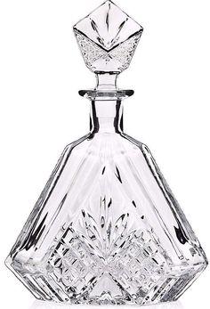 New Crystal Decanter Vintage Bottle Glass Jim Beam Liquor Whiskey Wine Bar Gift…