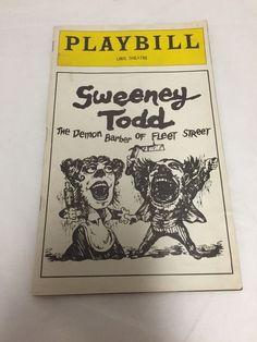 Playbill Sweeney Todd Len Carious Angela Lansbury Victor Garber May 1979
