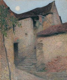 Charité, 1895, Henri Martin. French Post-Impressionist Painter (1860 - 1943)