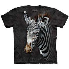 ZEBRA Animal Art T-Shirt The Mountain Zoo Wildlife Mens Sizes S-5XL NEW! #TheMountain #GraphicTee #zebra #zoo #zebrashirt #zebrastripes