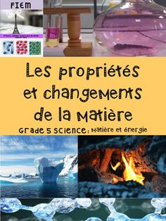 "French Immersion, Grade 5 ScienceIntegrate this resource in your science unit about ""Les proprits et changements de la matire"" with accurate information at the reading level of your French Immersion students!This resource is intended to develop the vocabulary and content about the Matter unit in French, support the understanding  and impact of matter and its properties in our lives and provide  students with some activities they will enjoy completing.Learn in French the essential vocabulary… French Immersion, Science, Reading Levels, Fourth Grade, Vocabulary, Students, The Unit, Content, Activities"
