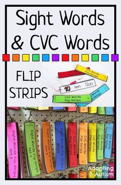 Sight words and CVC words activities.  Three differentiated levels of word work perfect for your special education class and autism program.