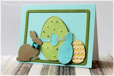 Here's a sweet Easter card made with die cuts from Poppy Stamps. Like Ilona Zbieg did with this card one of my favorite things… Handmade Greetings, Greeting Cards Handmade, Egg Card, Memory Box Cards, Easter Religious, Easter Parade, Easter Holidays, Unique Cards, Paper Cards