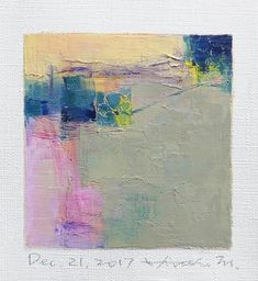 Dec. 21 2017  Original Abstract Oil Painting  9x9 painting