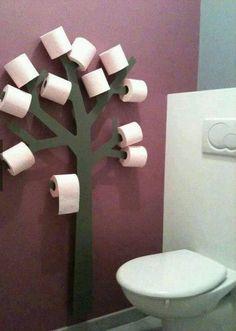 Árvore com o papel higiénico para o wc da live4digital   #wc #casadebanho #decor #ideias #decoration #arrumacao #inspiration