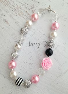 Chunky Baby Necklace Bubblegum Necklace Pearl Baby by TheSassyTot, $13.95