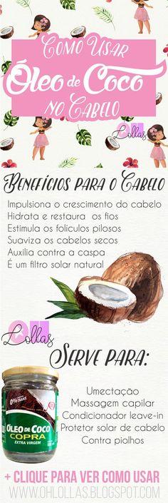 http://salaovirtual.org/oleo-de-coco-para-cabelos/ #dicas #produtos #oleodecoco #salaovirtual