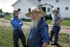 Amish men shooting the breeze in Smicksburg, PA.