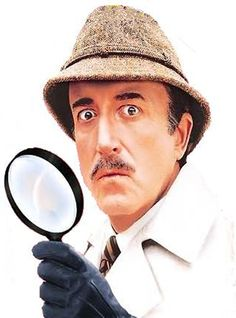 """Peter Sellers as Inspector Clouseau  """"Does your dog bite?"""""""