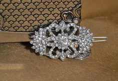 Wedding Rhinestone Barrette Hair Clip Bridal Rhinestone Hair Clip by HavingFunWithCrafts, $19.99