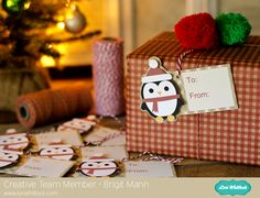 Print n Cut Christmas Tag Tutorial.  Lori Whitlock, Trendy Twine.