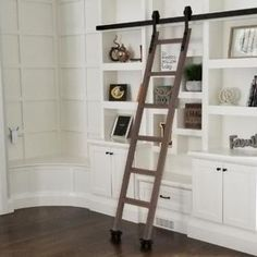 Artisan Hardware ladders are a perfect addition to any room in your home. Shop for a wooden sliding ladder or a rolling library ladder to add style. Hanging Barn Doors, Main Gate Design, Ladder Bookcase, Bookcases, Blanket Ladder, Interior Barn Doors, Modern House Design, Home Projects, Ladder Decor