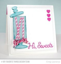 Candy Jar Companions, Candy Jars Die-namics, Inside and Out Diagonal Stitched Square STAX Die-namics - Cindy Lawrence #mftstamps