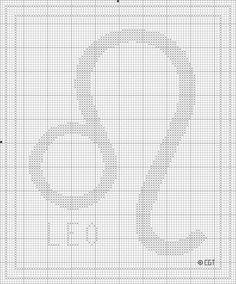 Free Printable Leo Zodiac Cross Stitch Chart