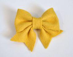 Felt Bow PDF Tutorial with Printable Templates 6 Bows in 1 Tutorial Headband, Hair clip, Brooch, Baby Bow Tie
