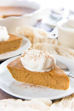 This Crustless Pumpkin Pie pudding is so satisfying and silky smooth that you w. This Crustless Pumpkin Pie pudding is so satisfying and silky smooth that you won't miss the. Crustless Pumpkin Pie Recipe, Gluten Free Pumpkin Pie, Pumpkin Pie Recipes, Pumpkin Deserts, Mini Pumpkin Pies, Sugar Pumpkin, Pumpkin Cookies, Canned Pumpkin Pie Filling, Sugar Free Pudding