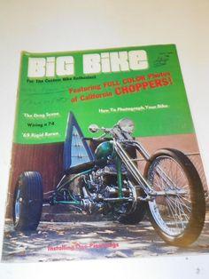 """VTG """"BIG BIKE"""" (APRIL1970) CHOPPER MOTORCYCLE MAGAZINE: CUSTOM BIKE HOG CYCLE"""