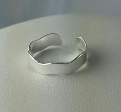 Sterling silver adjustable Wavy Toe Ring, new to the www.crystalandvanilla.co.uk Shop