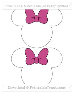 Pink Minnie Mouse Party Invites