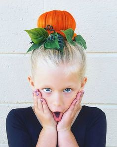 The perfect pumpkin bun! #halloweenhairstyles
