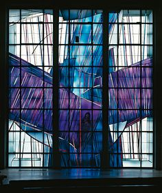 Raphael Seitz | Freelance painter and glass artist | Lichtraum | St. Barbara Geesthacht #StainedGlassChurch