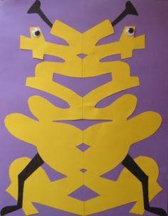 Name Aliens for Cursive Writers- cute mirror image project Art Lessons For Kids, Art Lessons Elementary, Art For Kids, 3rd Grade Art, Math Projects, Math Art, Alien Art, Cursive, Teaching Art