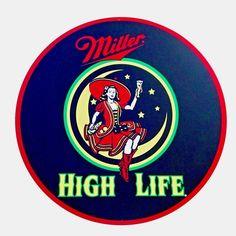 """Miller High Life 24"""" Metal Tin Sign"""
