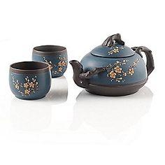 Blue Cherry Blossom Yixing Teapot at Teavana | Teavana
