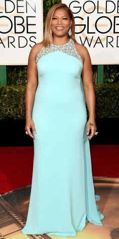 2016 Golden Globes Red Carpet Arrivals - Queen Latifah  - from InStyle.com