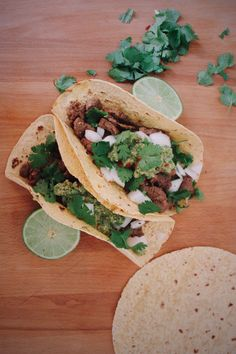 Authentic Mexican carne asada tacos recipe, the real deal. With adobo marinade and a fresh salsa verde. Easy and affordable, perfect for any occasion.