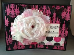 Chic pink and black expanding brag book / scrapbook