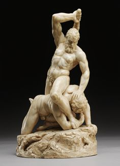 Hercules and Cacus. 1640. circle of Leonard Kern. German 1588-1662. ivory. Sotheby's