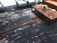 Charcoal high traffic rug