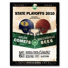 Solon Comets Program: posters, raffle tickets, booklets, game programs and more #solon #football [design and printing]