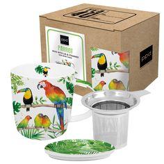 Tropical Mug Lid & Strainer #tropical #summer #sommer #birds #vögel #mug #lid #strainer #tasse #tea #tee #ppd #paperproductsdesign
