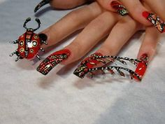 Nail Artist: Making Beautiful Nail Art Creative Nail Designs, Best Nail Art Designs, Creative Nails, Lip Designs, Korean Nail Art, Korean Nails, Fingernail Designs, Acrylic Nail Designs, Halloween Acrylic Nails