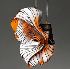 #paperart #jewellery #sculpture / Lydia Hirte