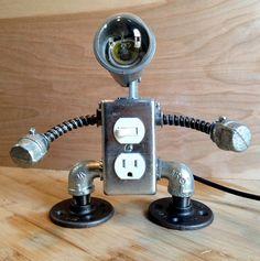 Robot Lamp 2 in 1 by JosephBarral on Etsy
