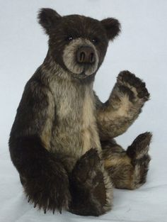 Stuffed bear, everyone needs one! Teddy Bear Hug, Cute Teddy Bears, Stuffed Bear, Love Bears All Things, Fuzzy Wuzzy, Vintage Teddy Bears, Bear Doll, Plush Animals, Soft Sculpture