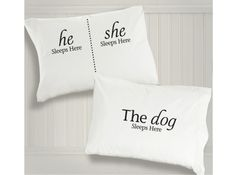 The Dog Sleeps Here Pillowcases + More Holiday Gift Ideas for Dog Lovers | Woof Woof Mama