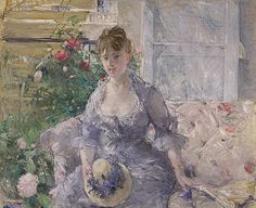 Young Woman Seated on a Sofa - Berthe Morisot, ca. 1879. The Metropolitan Museum of Art, New York. Partial and Promised Gift of Mr. and Mrs. Douglas Dillon, 1992 (1992.103.2) #paris