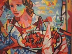 Charles Walch au Musée des Beaux Arts de Mulhouse : Coupe de cerises et soleil couchant Musée St Lô