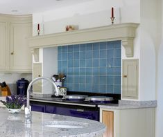Kitchen with Stubborn AGA - Levick Jorgensen Kitchens Inframe Kitchen, Kitchen Paint, Aga, Mantle, Home Kitchens, Sink, Vanity, Furniture, Home Decor