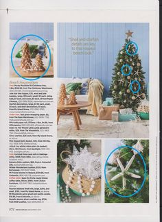 Christmas Decorations in Australian Women's Weekly, December 2015
