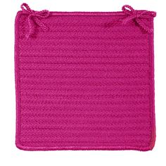 At Home Indoor Outdoor Square Braided Chair Pad, Magenta Loose Ends, Chair Pads, Magenta, Indoor Outdoor, How To Wear, Fashion, Moda, Chair Cushions, Fashion Styles