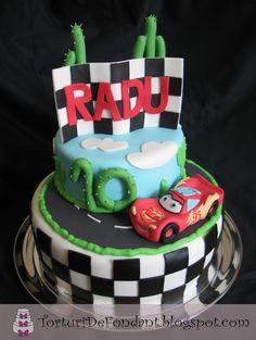 Lightning McQueen Cake -john would flip for this cake