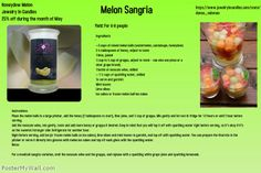 Melon Sangria and it pairs well with the Honeydew Melon Candle and/or Tarts