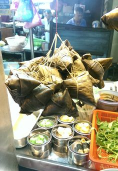 Nonya bamboo wrapped dumplings, George Town (喬治市) in Penang