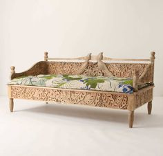£2,800 for an amazing carved day bed from Anthropologie. No, not worth it. But pretty.